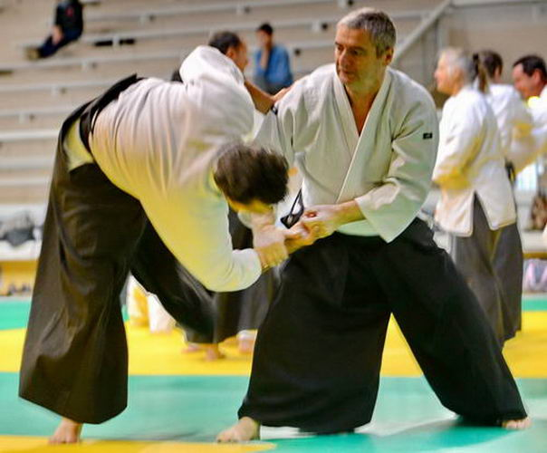 Aikido demonstration Peyrache