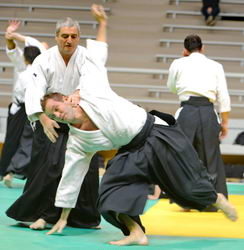 Aikido 69 shihonage omote ura projection nage waza